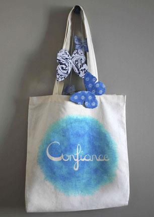 sac coton bio et accessoires équitable mots positifs