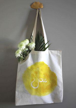 sac tote bag femme homme cabas coton bio et équitable mot positifs joie mémos d'amour